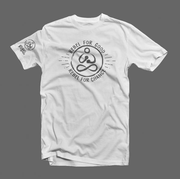 rebelforgood organic white tshirt kids and teens just tshirt shot