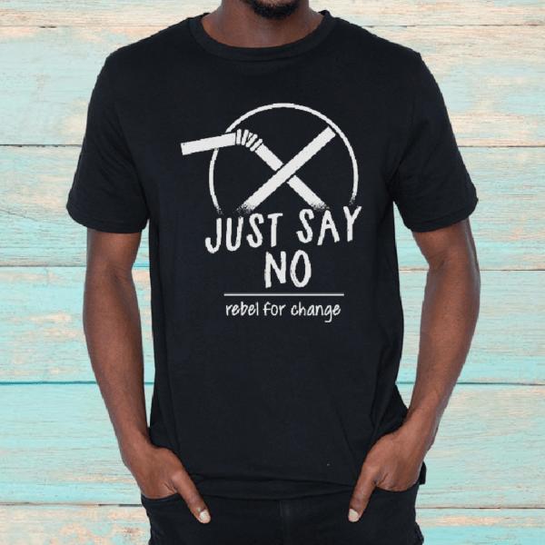 justsaynoblacktshirt men organic tshirt rebel buda cropped