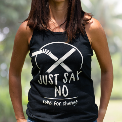 just say no to straws organic women tank top