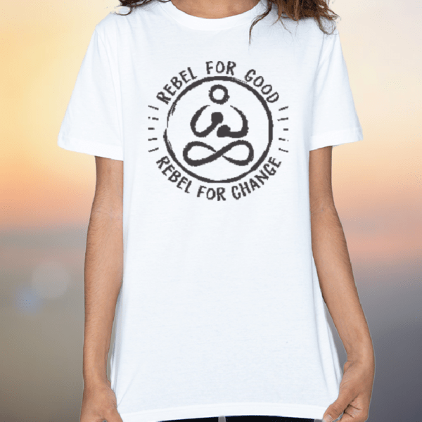 rebelforgood organic white tshirt kids and teens