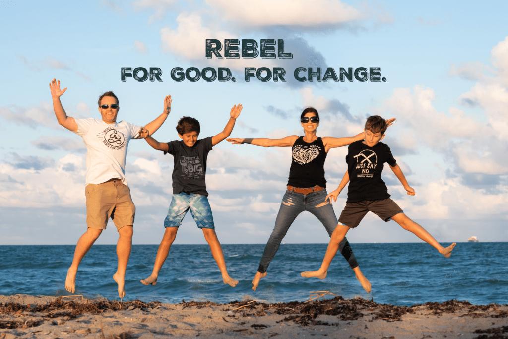 Rebel for good. Rebel for change. Rebel buda frontpage family portrait.