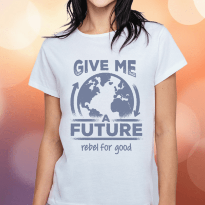 give me a future organic white slim fit tshirt women