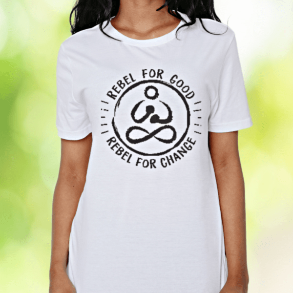 be a rebel organic white classic tshirt women rebel buda