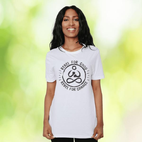 rebel for good organic women tshirt classic style full frame shot rebel buda