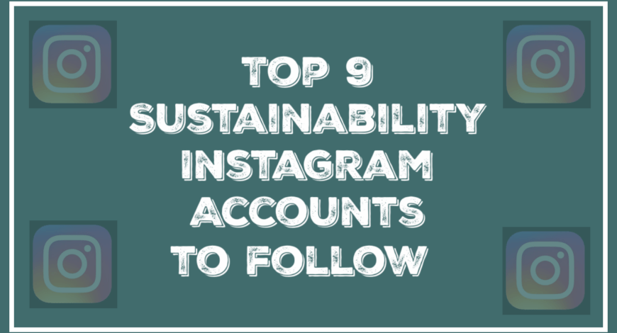 Top 9 Sustainability Instagram Accounts to follow